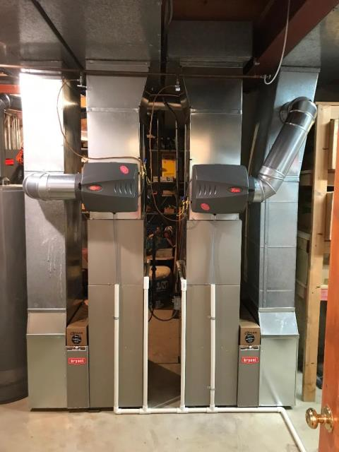 Elgin, IL - Finished installation of 2 Bryant furnaces, 2 Bryant air conditioners & 2 Bryant humidifiers in Rolling Knolls.