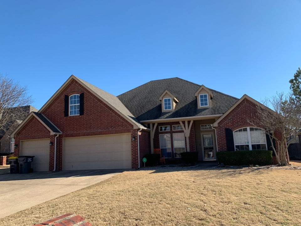 Jenks, OK - Roof inspection for storm damage and blown off shingles. Call Arrowhead for your free quote today at 918-743-9257