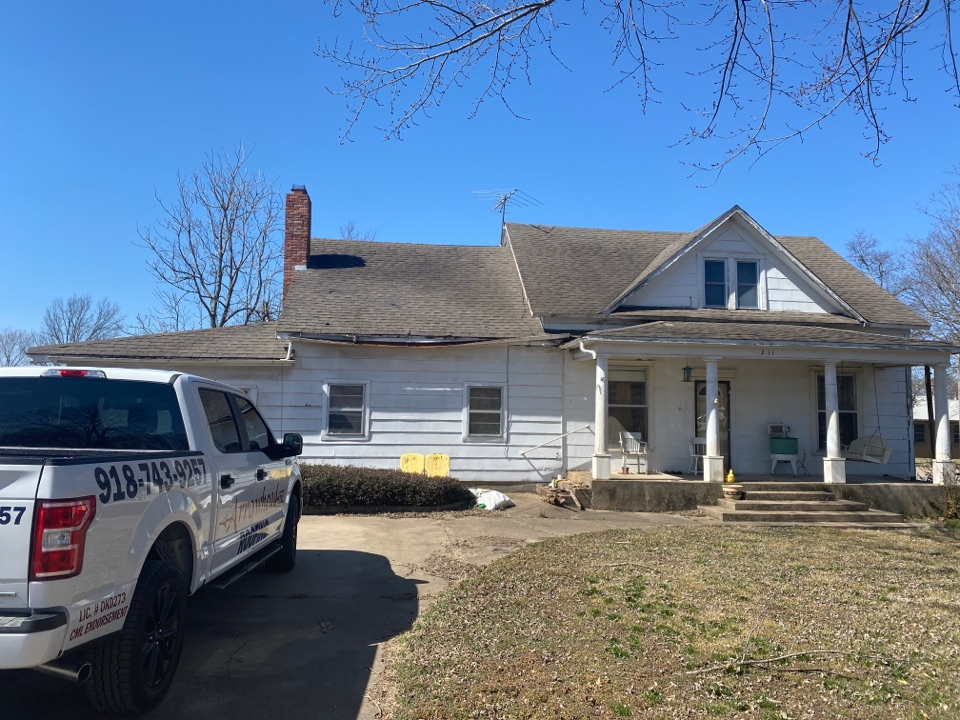 Chouteau, OK - Estimate for New GAF Timberline HDZ Shingles as well as new decking required per code.