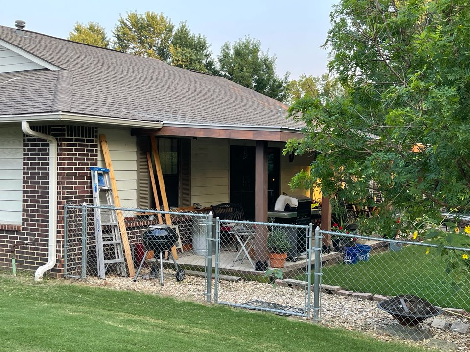 Claremore, OK - Arrowhead Roofing installed an Ag panel patio cover on this home in Claremore, Oklahoma. Call Arrowhead Roofing for all your metal roofing needs.