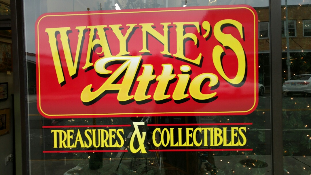 Burlington, NC - Dropping off Mumford Restoration Brochures and Business Cards  at Wayne's Attic Treasurers and Collectibles downtown Burlington! Great place to shop for Collectibles!