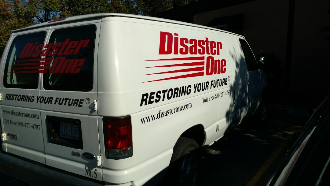 Greensboro, NC - Dropping by Disaster One Restoration to Drop off Mumford Restoration Brochures and Business Card.