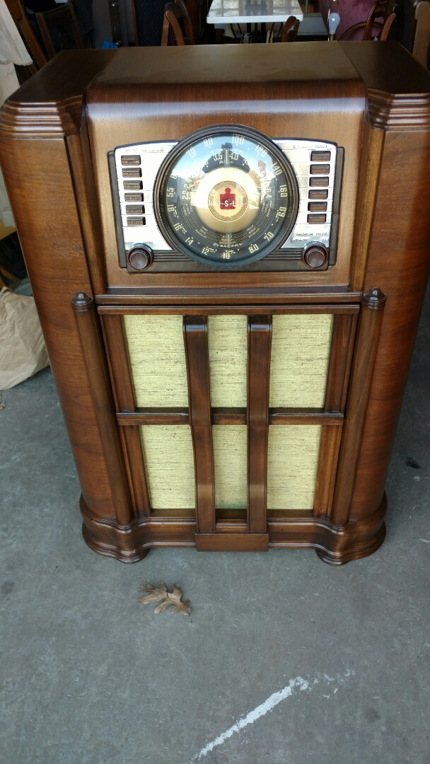 Greensboro, NC - Delivered customers Antique radio / phonograph after radio repair, phonograph repair and complete restoration.