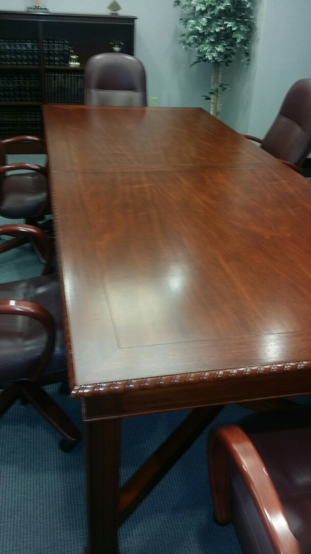 Durham NC Refinished Conference Table Mumford Restoration Restores  Commercial And Office Furniture Throughout. Durham NC