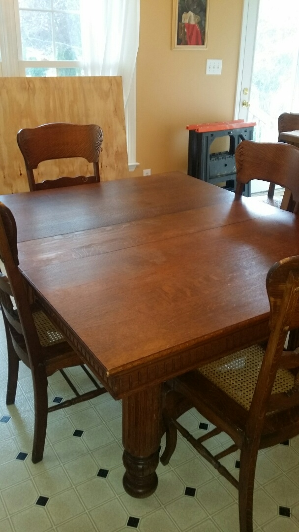 Holly Springs, NC - Tighten and reglue dinning room chairs and table.