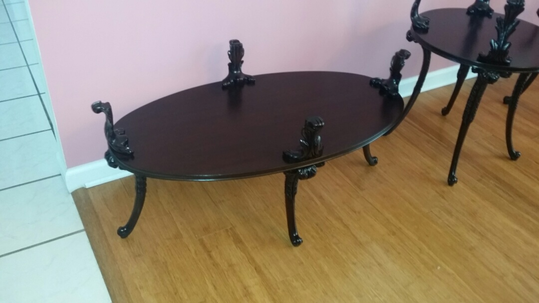 Biscoe, NC - Wonderful coffee and end tables restored with our Platinum service.  They look great!