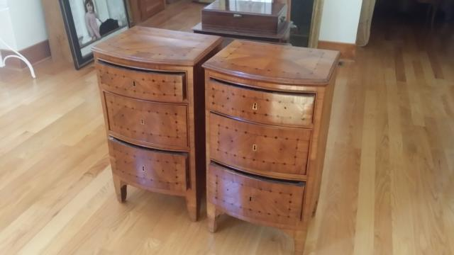 Chapel Hill, NC   Furniture Restoration Of These Two Bedside Tables That  Needed The Veneer