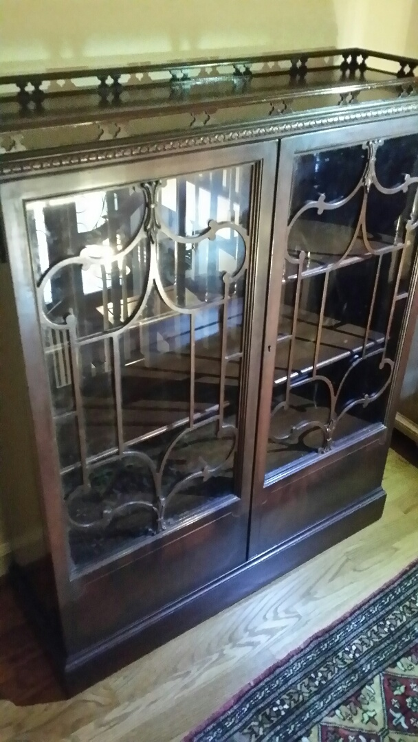 Cary, NC   Furniture Restoration Of Mahogany Glass Doored, Bookcase.