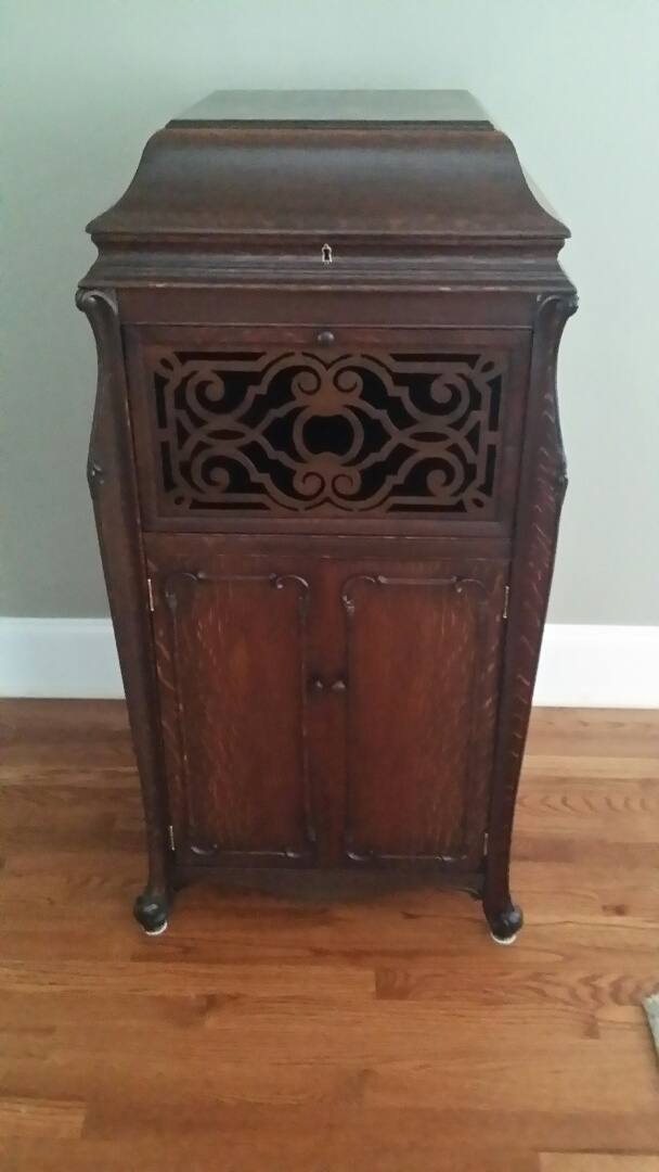 Morrisville, NC - Furniture restoration of this great old Oak Silvertone Victrola