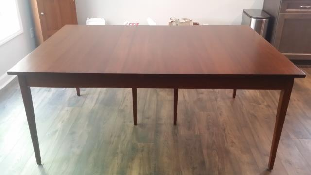 Durham, NC - Furniture restoration - Total refinish of this walnut table.