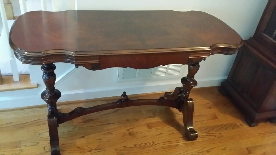 Cary, NC   Furniture Restoration   Refinished The Top Of This Sofa Table.
