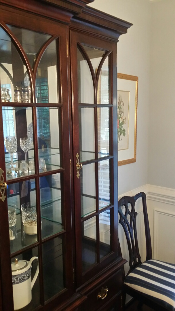 Apex, NC   Did A Little Furniture Repair On This China Cabinet.