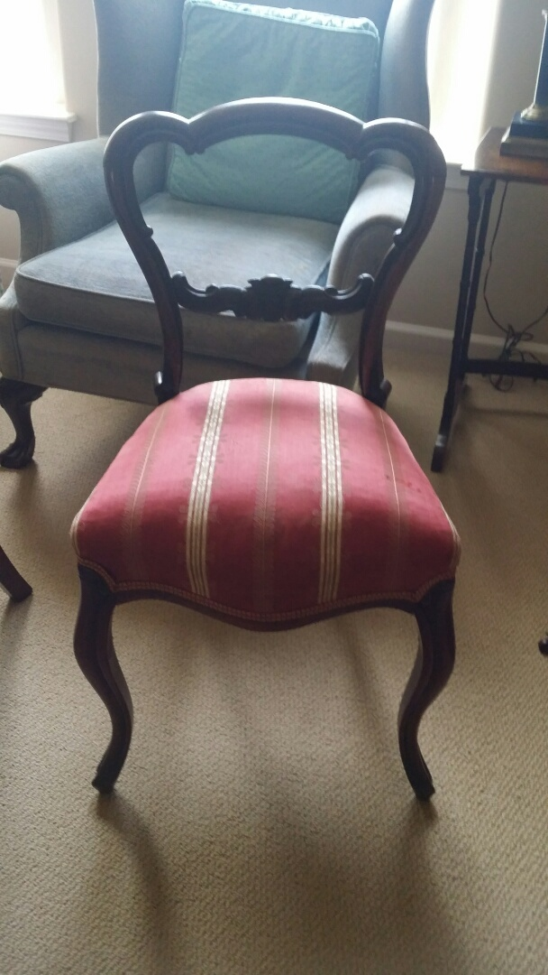 Apex, NC - Installed a new seat for the side chair.