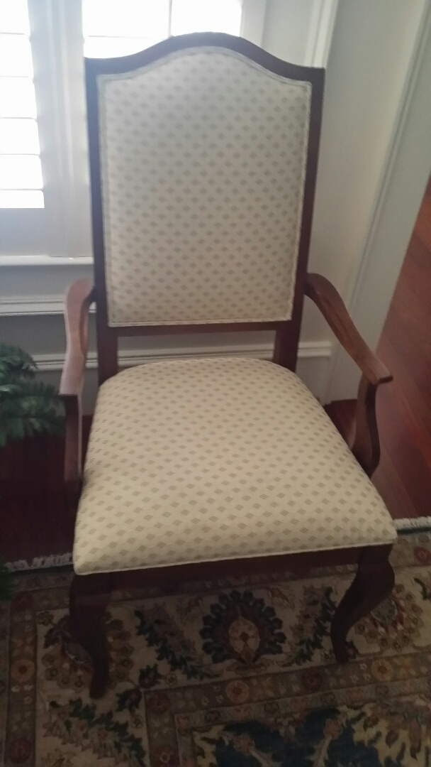 Apex, NC   Refinished The Arm On This Side Chair.