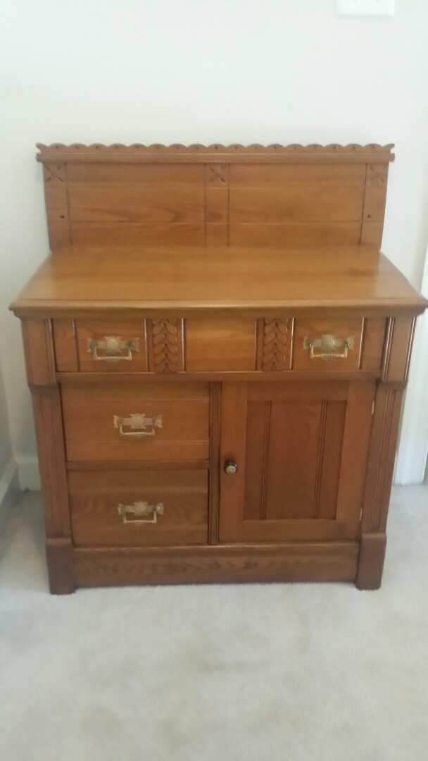 Holly Springs, NC - Total restoration of this antique Eastlake Wash Stand.