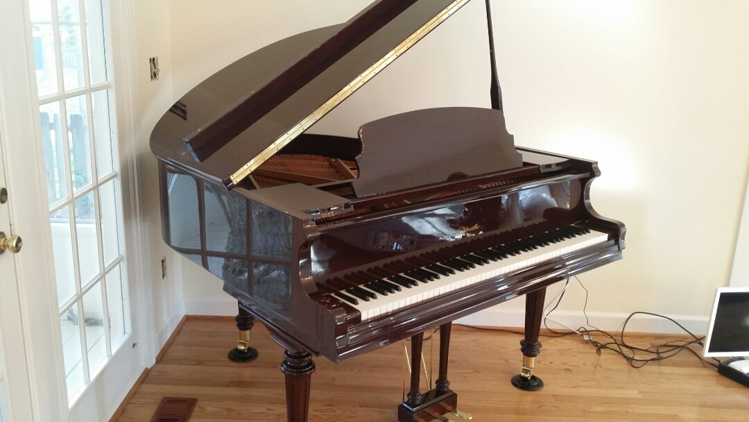 Moved baby grand piano