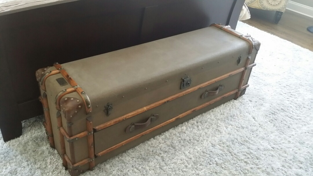 Durham, NC - Repaired spot on canvas trunk
