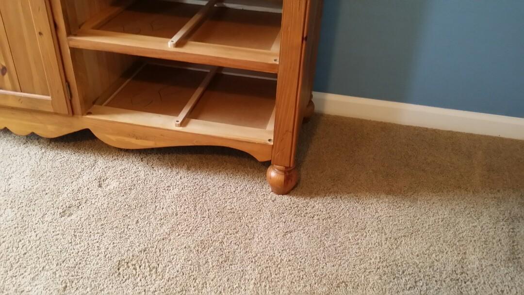 Repaired broken legs on dresser