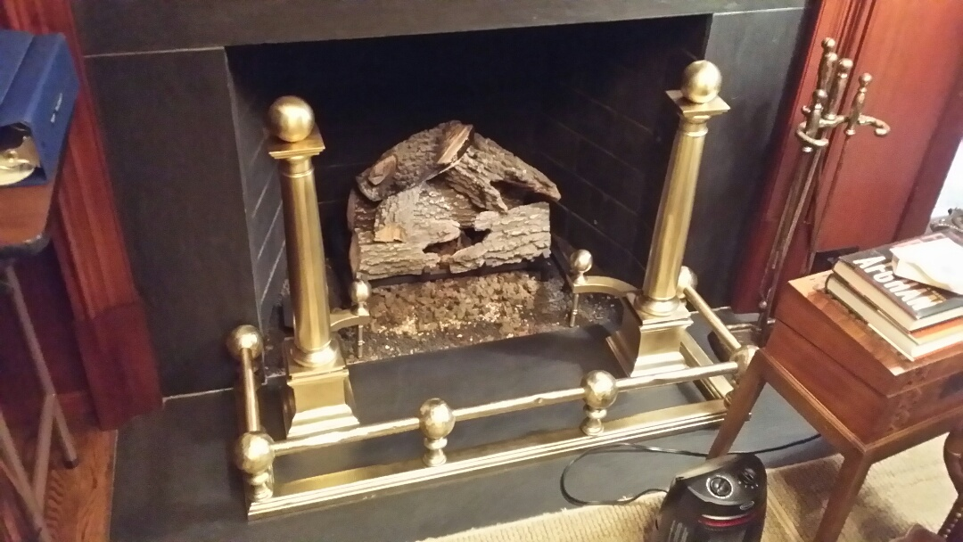Greensboro, NC - Polished brass fireplace