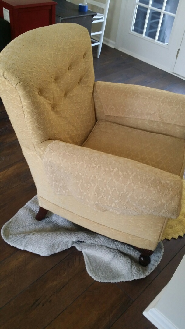 Greensboro, NC - Cleaned water stains from chair