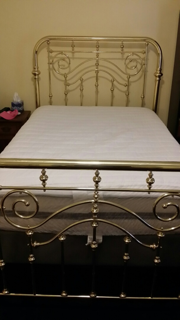 Durham, NC - Polished brass bed
