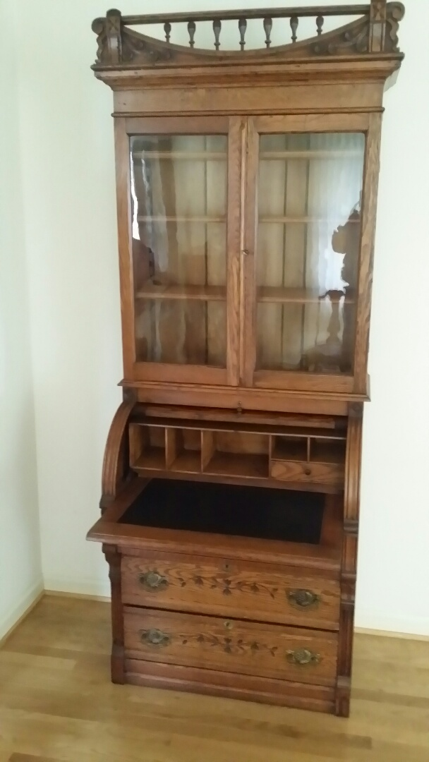 Greensboro, NC - Repaired barrel top secretary desk