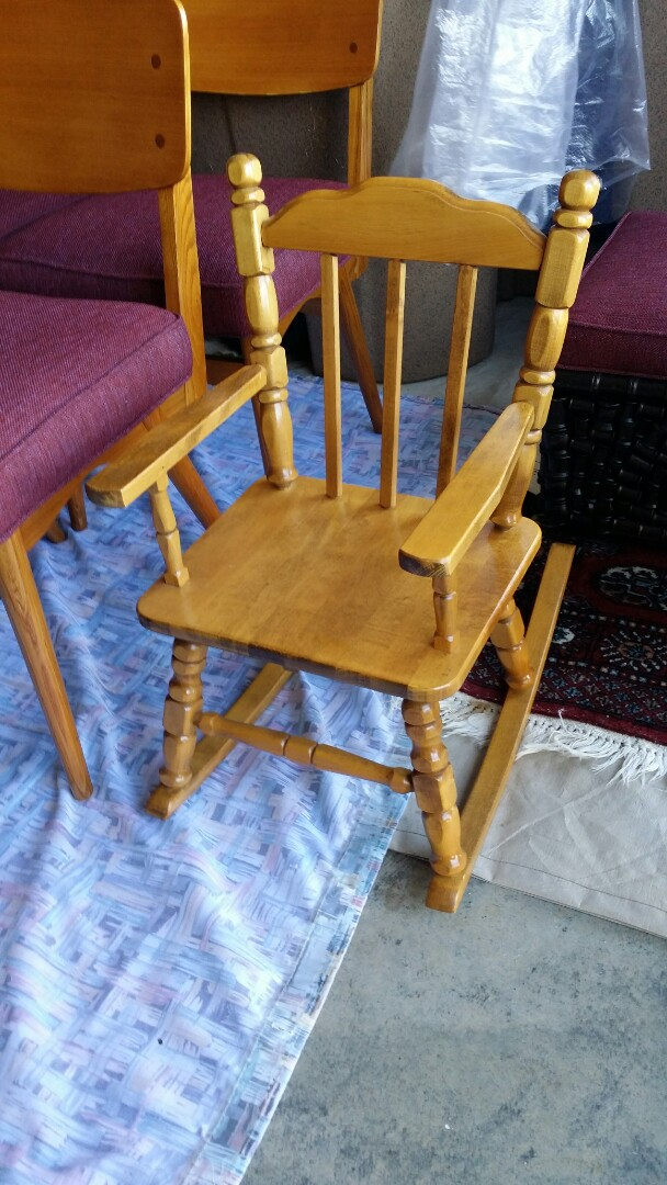 Refinished child rocker