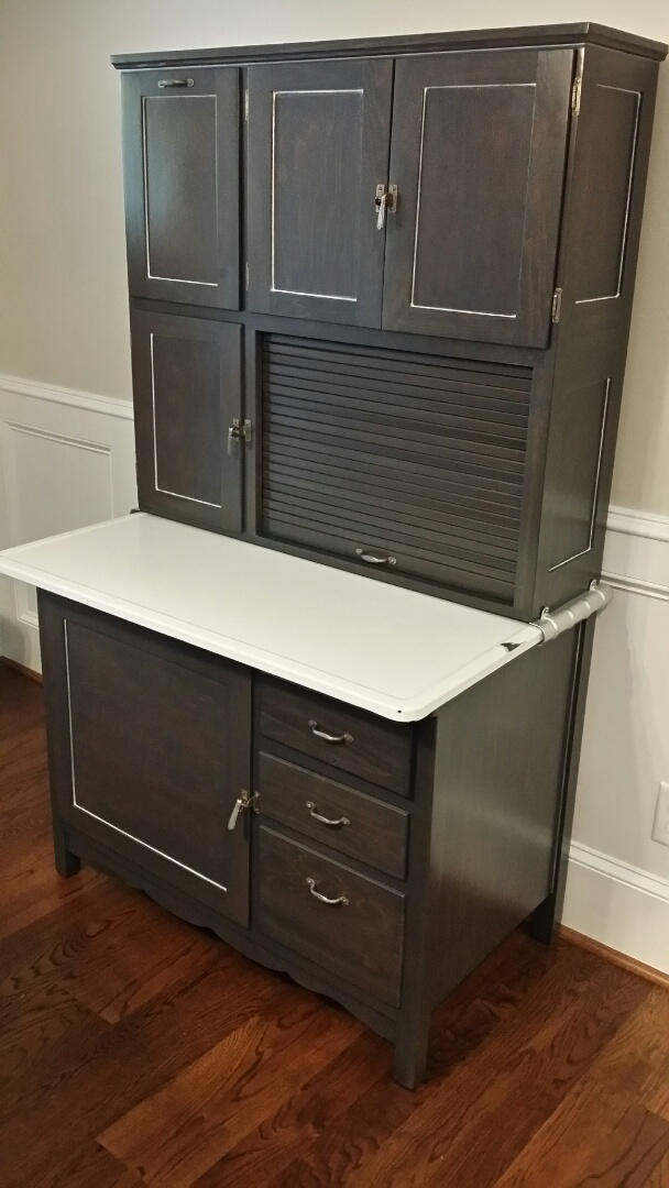 Raleigh, NC - Refinished hoosier cabinet