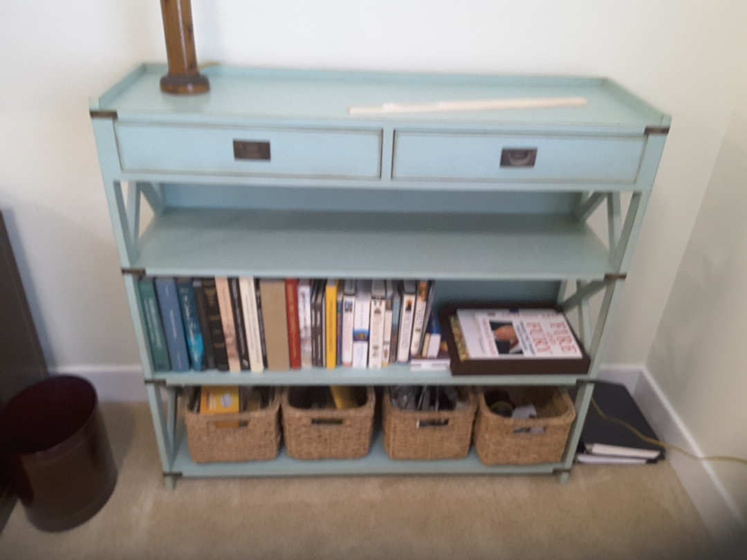 Pittsboro, NC - Bookcase refinished, repair, furniture restoration, repainted and glazed