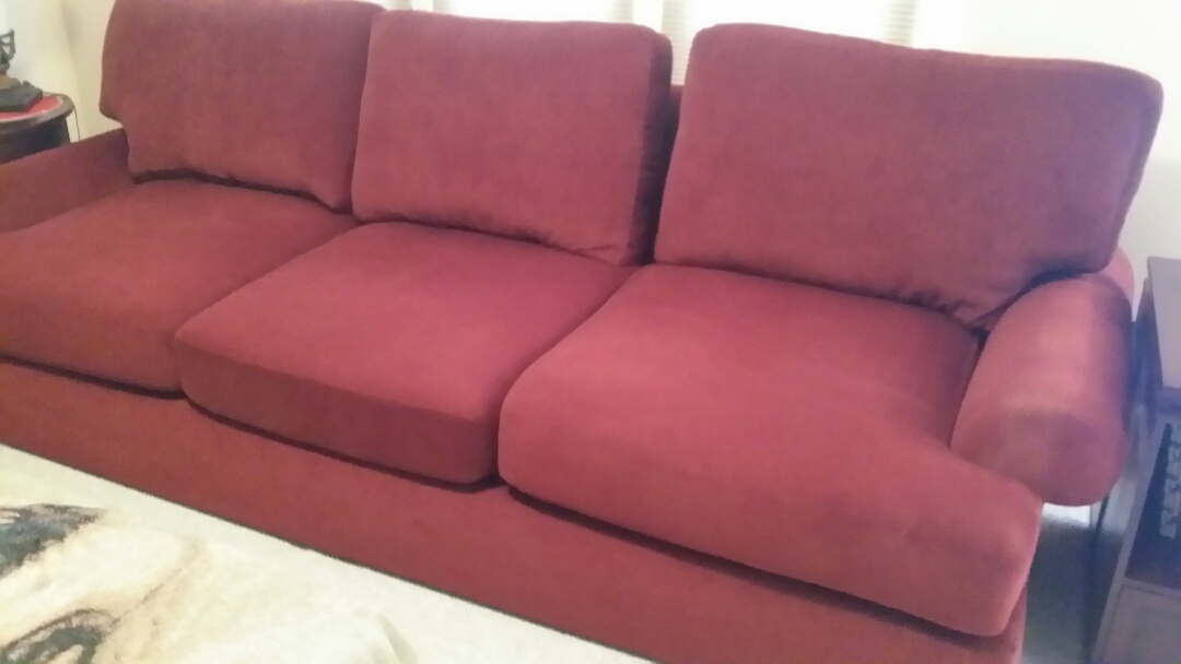 Raleigh, NC - Retied the springs and restuffed back cushions