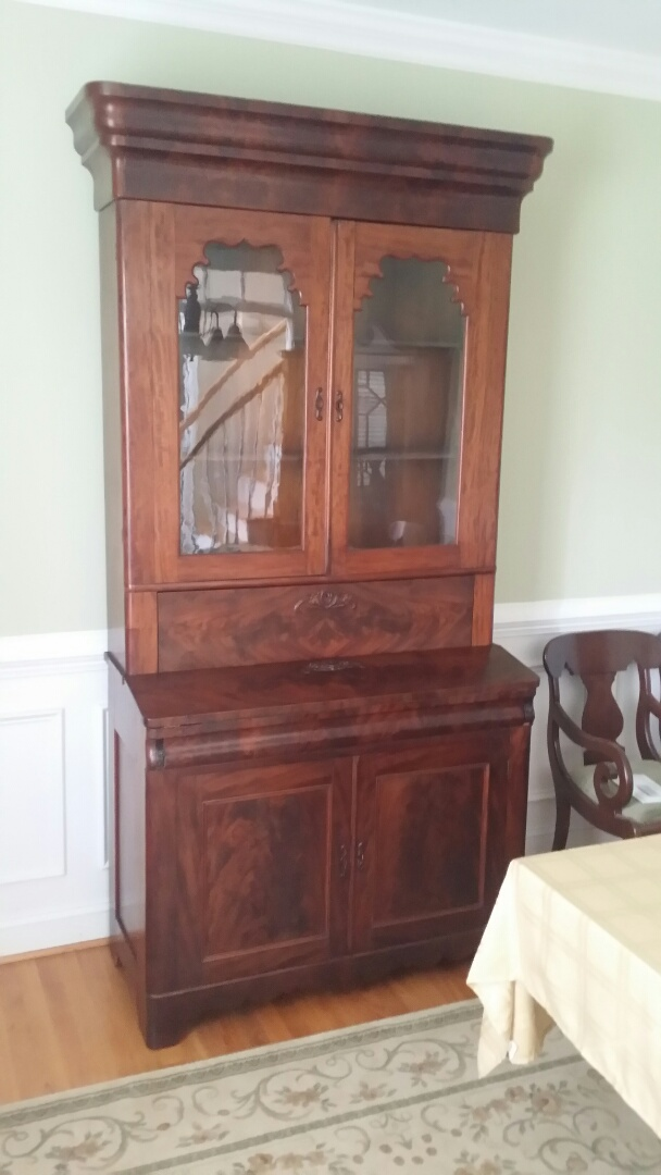 Repaired 1800's secretary desk