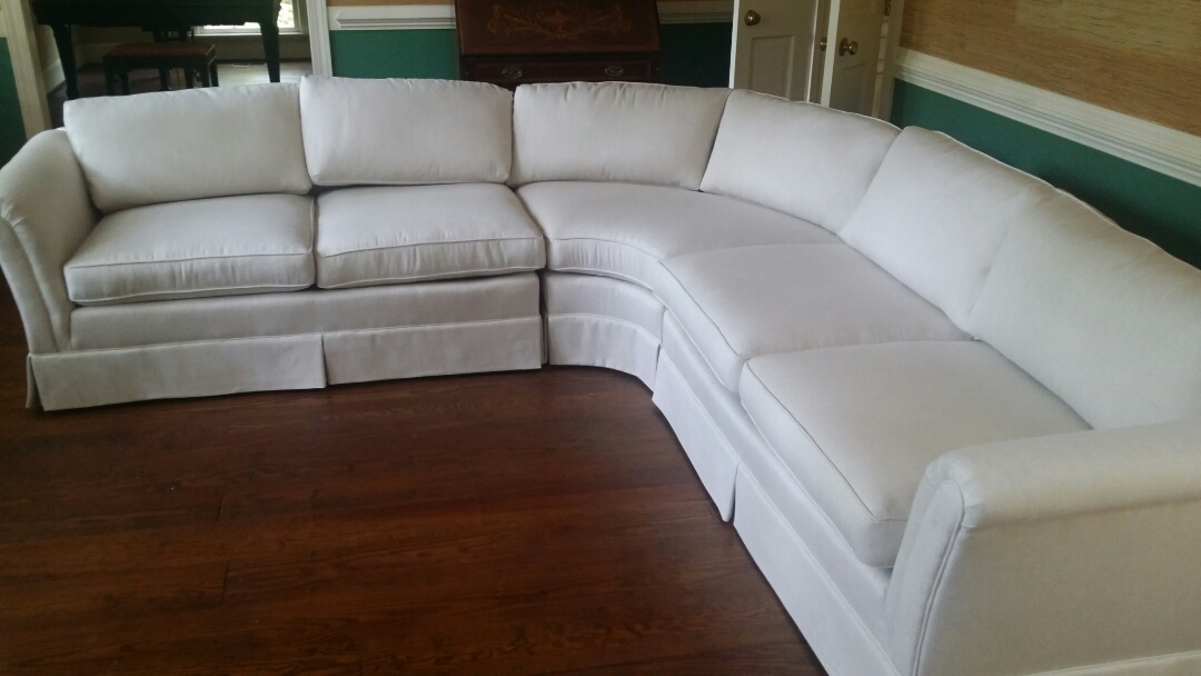 Reupholstered 1970's sectional