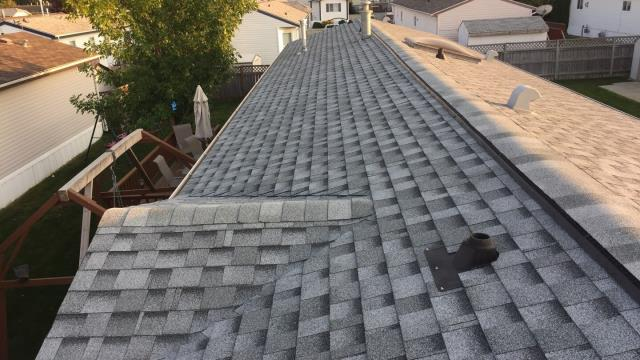Edmonton, AB - Upon removal of the existing roofing system, some unforseen issues were found. Luckily, this homeowner was very understanding, and got back to us in great time allowing us to finish this CRC Biltmore roof in one quick day.