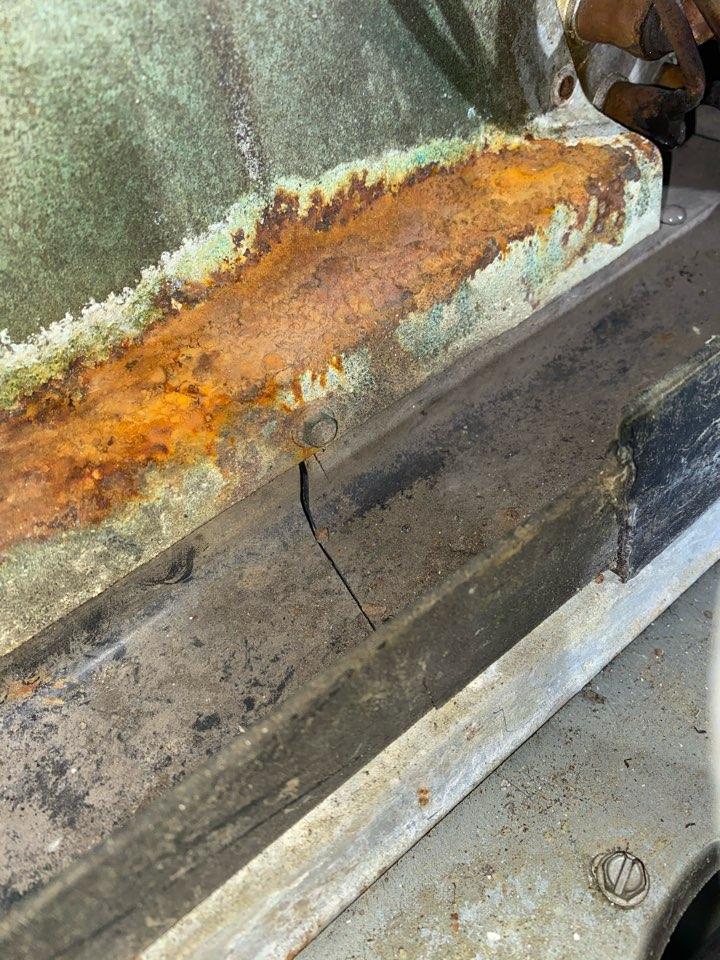 Hiram, GA - Diagnosed cracked drain pan