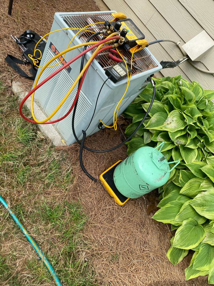 Villa Rica, GA - System low on refrigerant, Added refrigerant and system is cooling at this time.