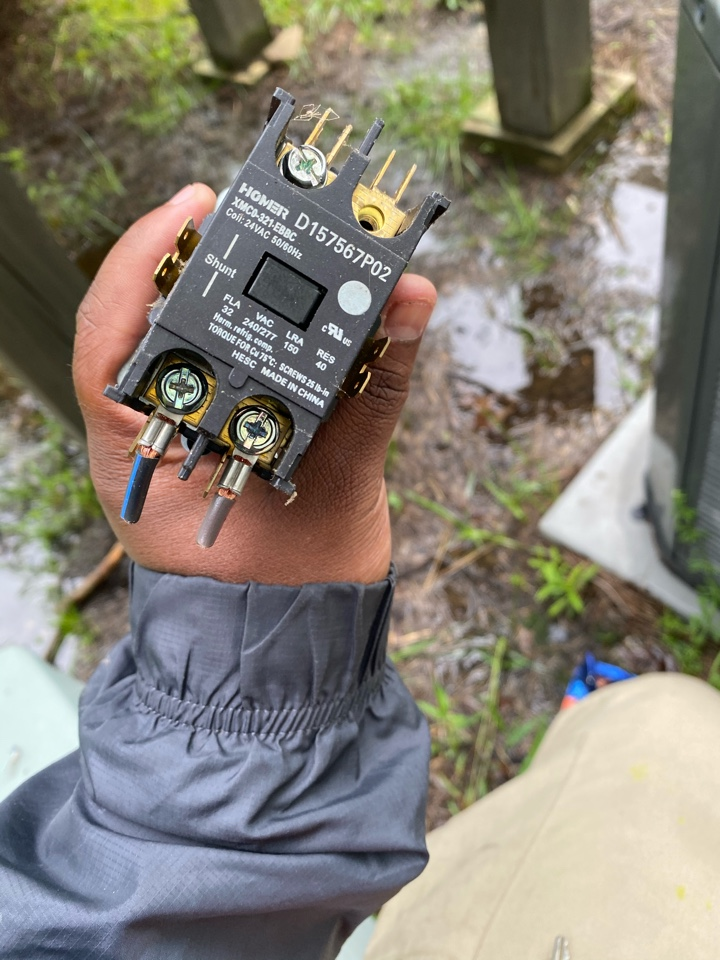 Hiram, GA - Located short at the contactor. Replaced and system is operating at this time.
