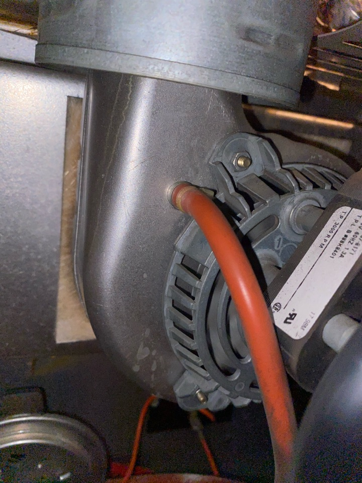 Atlanta, GA - Inducer motor port was clogged. Unclogged and system heating at this time.