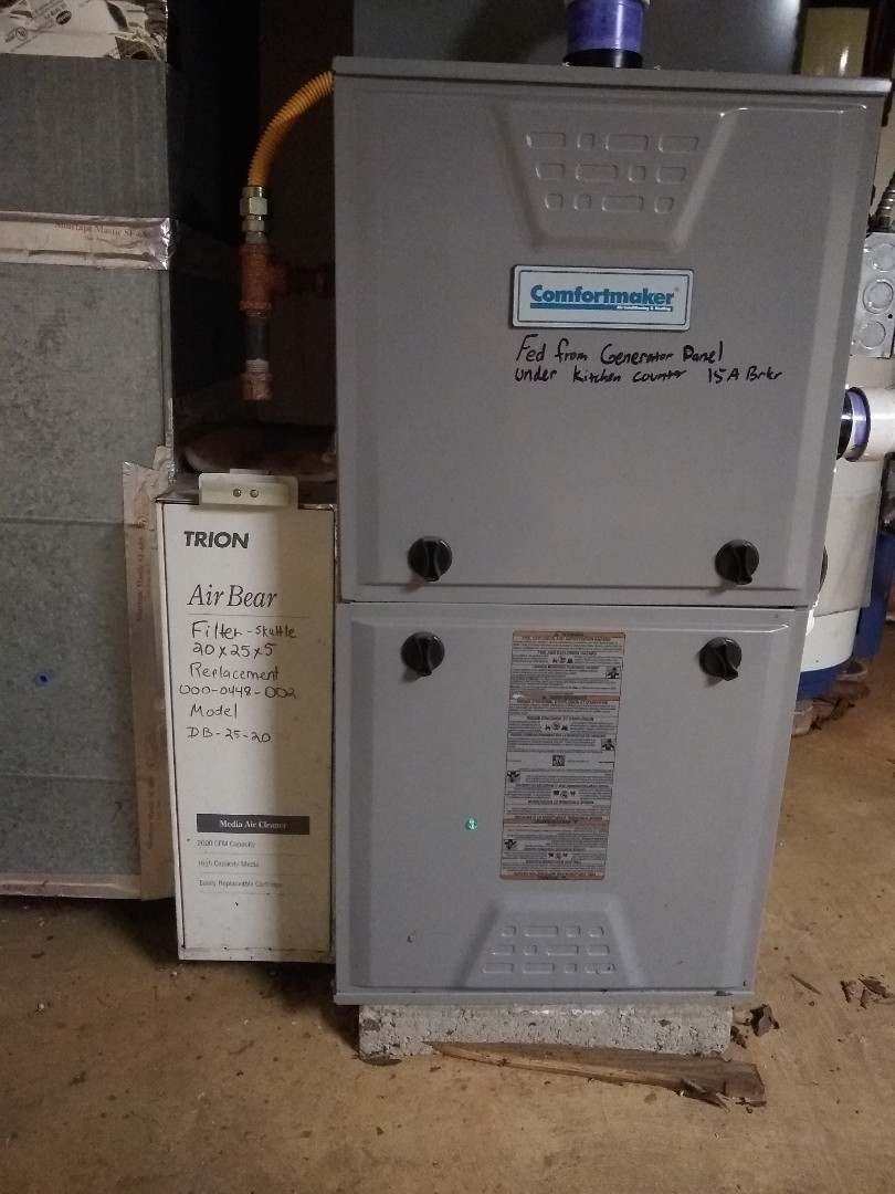Kannapolis, NC - Comfortmaker gas furnace tune up