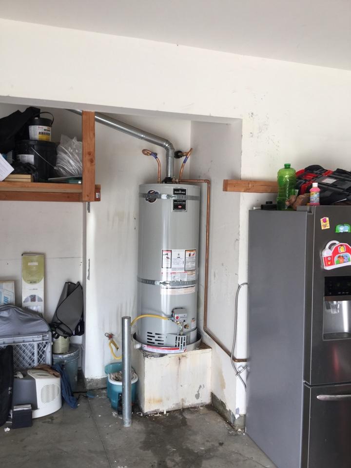 Menifee, CA - Installing a 50 gallon water heater