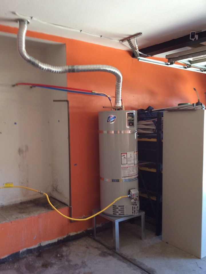 Winchester, CA - Installing a temporary water heater set up in Winchester California.