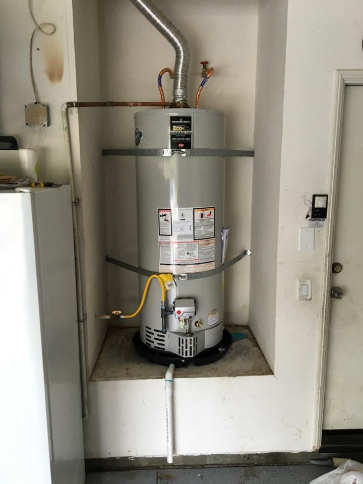Menifee, CA - Installing a 50 gallon Bradford White water heater in menifee ca.