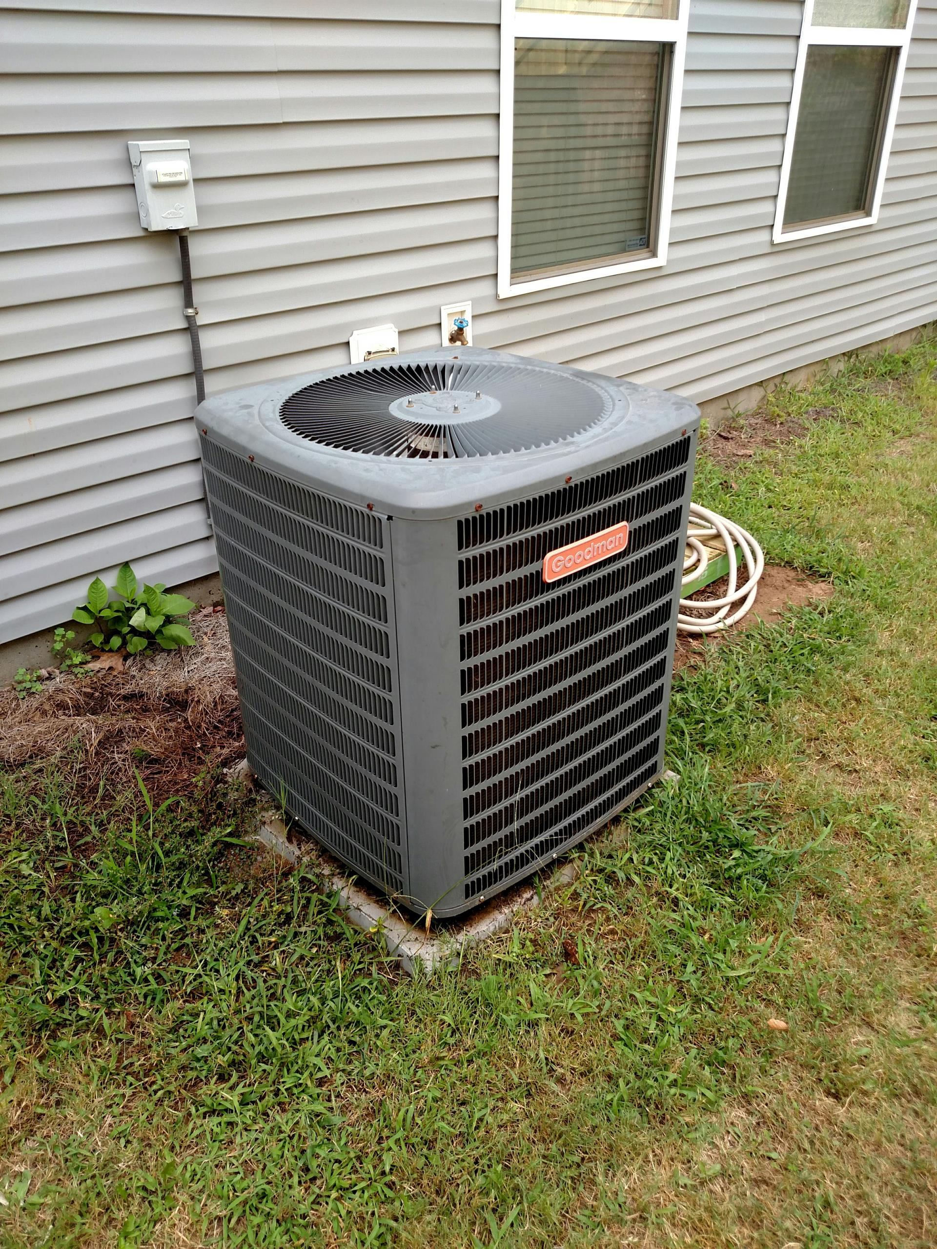 Sugar Hill, GA - Provided maintenance on 8 year old goodman air conditioning system and added an easy start kit