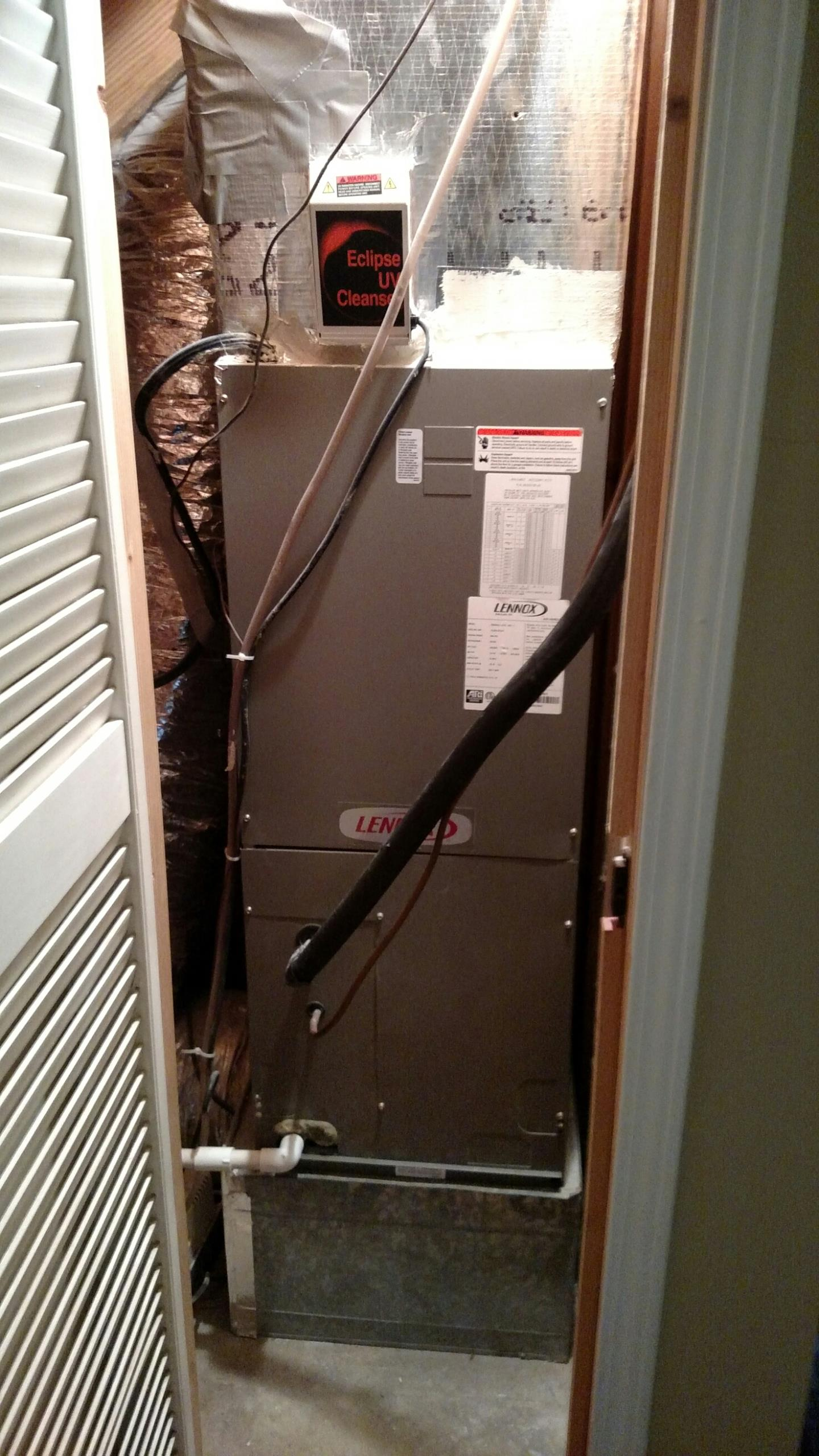 Sugar Hill, GA - Checking this Lennox heat pump system to make sure it's ready for summer.