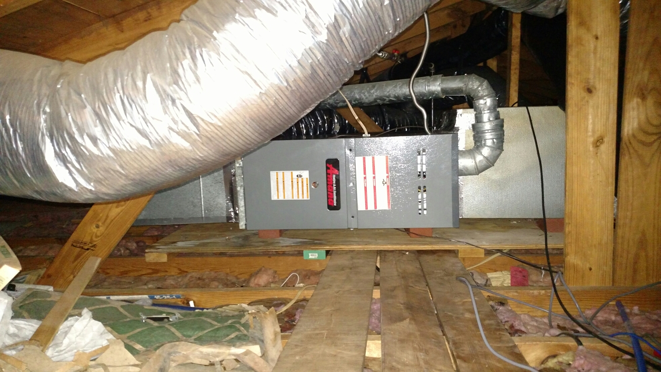 Oakwood, GA - Installing this new Amana natural gas furnace that has a 10 year all parts warranty.