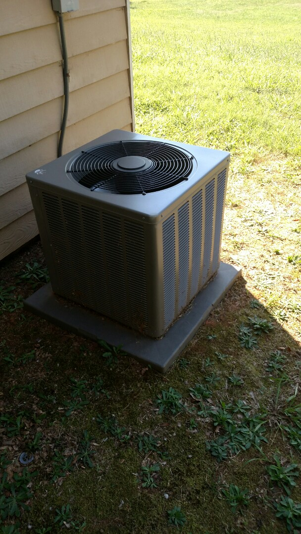 Oakwood, GA - This 4 year old Ruud central heating and cooling system needs a chemical flush on the outdoor coils.