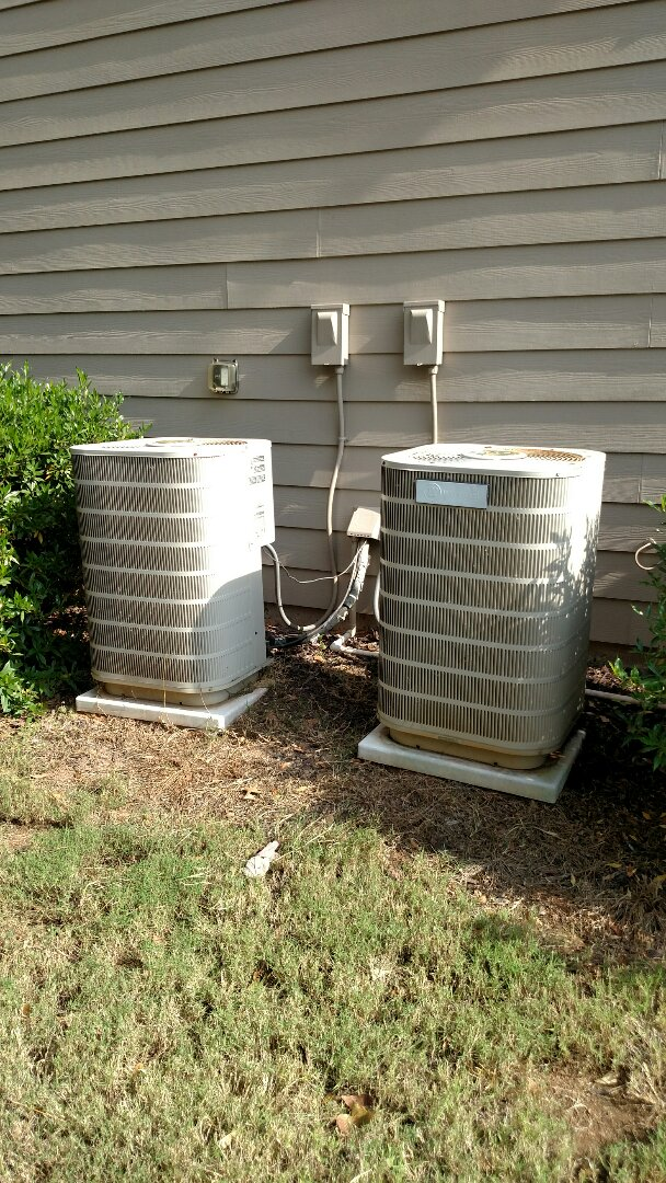 Braselton, GA - Performing heating maintenance on these two 10 year old Westinghouse systems. We are local and family owned and operated. We are in or near this area on almost a daily basis.