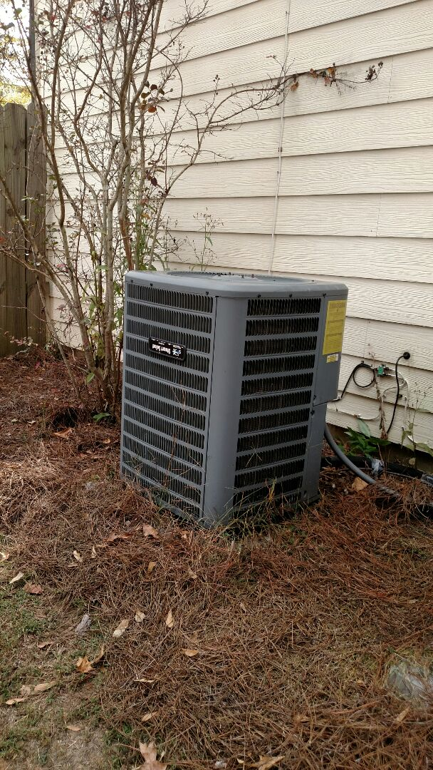 Buford, GA - Performing heating tune up on this 7 year old Goodman heat pump system. Changing 20x20x1 pleated filter. Testing heating cycles and freon readings. We are in or near this area on almost a daily basis. We are here to serve you and your family.
