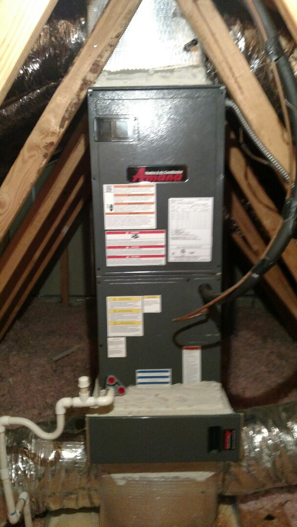 Oakwood, GA - Performing heating tune up on this 2 year old Amana 14 seer heat pump system. Changing 20x25x5 pleated media filter. We are in or near this area on a daily basis. We are a honest and trustworthy business that has your best interest in mind.