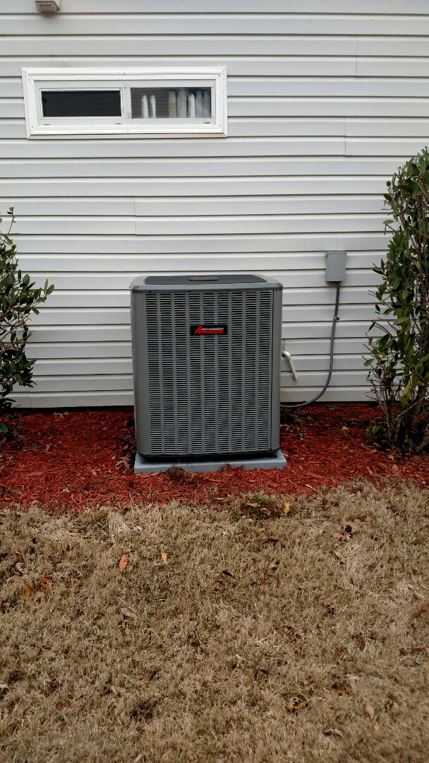 Flowery Branch, GA - Performing cooling maintenance on this 14 seer Amana heat pump that we installed in 2016. We are local and in or near this area on a daily basis. We serve you and your family with honesty and integrity. We are a true family owned and operated heating and air conditioning company.
