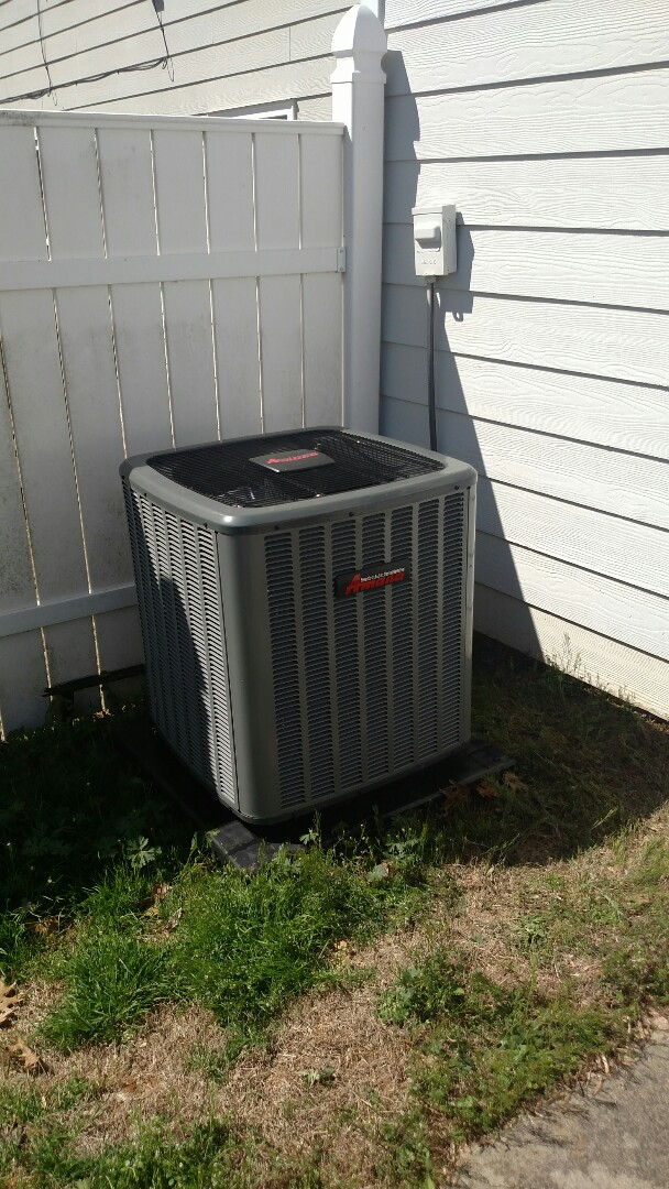 Oakwood, GA - Performing cooling maintenance on this 2 year old 14 seer Amana air conditioner. Changing filters and chemical flushing condenser coils. We are local and in or near this area on a daily basis. We are family owned and operated. We serve you and your family with honesty and integrity. We service all brands like Carrier Bryant Lennox Comfortmaker Nordyne Tappan Westinghouse Trane American standard Ruud Rheem Heil Amana Goodman Daikin GMC Whirlpool weather king.
